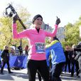Caroline Wozniacki au marathon de New York, le 2 novembre 2014