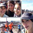 Teri Hatcher et sa fille Emerson, au marathon de New York, le 2 novembre 2014