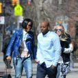 Kelly Rowland dans les rues de New York avec Tim Witherspoon, le 26 mars 2014.