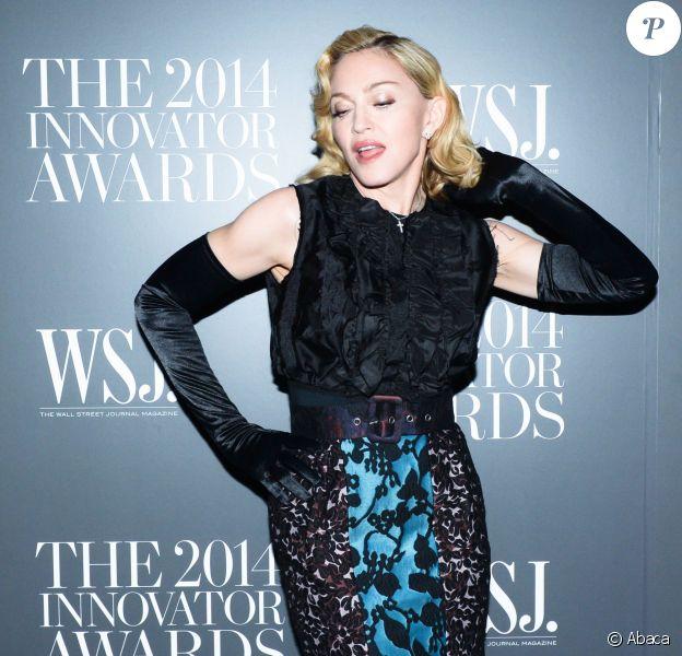 Madonna assiste aux WSJ Innovator Awards au musée d'art moderne, à New York. Le 5 novembre 2014.