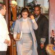 Kim Kardashian et Kanye West quittent le restaurant Cipriani après un déjeuner en tête à tête. New York, le 7 novembre 2014.