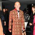 """Christian Louboutin assiste au dîner """"Louis Vuitton celebrating Monogram"""" organisé par Louis Vuitton au MoMA. New York, le 7 novembre 2014."""