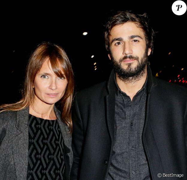 Exclusif - Axelle Laffont et son compagnon Cyril Paglino, très amoureux, au Palais des Sports à Paris le 31 octobre 2014.