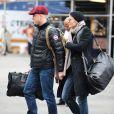 Robin Wright et son petit ami Ben Foster à la gare de New York, le 30 janvier 2013.
