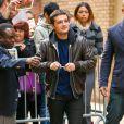 Josh Hutcherson à New York le 12 novembre 2014.