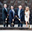 Eric Trump, Donald Trump Jr., Donald Trump et Ivanka Trump posent la première pierre du Trump International Hotel à Washington, le 24 juillet 2014.