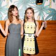 Alexa Chung et Harley Viera-Newton assistent au dîner d'annonce de la collection Solid & Striped x Poppy Delevingne à l'Happiest Hour. New York, le 12 novembre 2014.