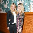 Elyse Taylor et Poppy Delevingne assistent au dîner d'annonce de la collection Solid & Striped x Poppy Delevingne à l'Happiest Hour. New York, le 12 novembre 2014.