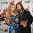 Paris Hilton et Bob Sinclar, récompensés lors des NRJ DJ Music Awards le 12 novembre 2014 à Monaco.