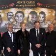 La princesse Charlene de Monaco soutenait son père Michael Wittstock le 1er février 2014 lors du combat de boxe organisé en principauté entre Gennady Golovkin et Osumanu Adama.