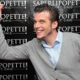 "Norbert Tarayre lors de l'inauguration du restaurant ""Saperlipopette!"" de Norbert Tarayre (Top Chef 3) à Puteaux, le 17 novembre 2014"