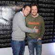 "Norbert Tarayre et Jean Imbert lors de l'inauguration du restaurant ""Saperlipopette!"" de Norbert Tarayre (Top Chef 3) à Puteaux, le 17 novembre 2014"