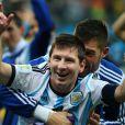 Lionel Messi - L'Argentine bat les Pays-Bas lors de la séance de tirs au but sur le score de 4-2 et se qualifie pour la finale du mondial de football à Sao Paulo au Brésil le 9 juillet 2014.