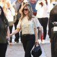 """Jennifer Aniston arrivant à l'émission """"Jimmy Kimmel Live!"""" à Hollywood, le 24 novembre 2014"""