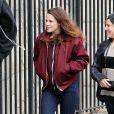 Kristen Stewart sur le tournage du film Still Alice à New York. Le 17 mars 2014.