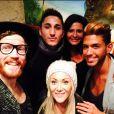 """Geoffrey, Julie, Sacha, Nathalie et Vivian de """"Secret Story 8"""" réunis le 16 octobre 2014."""