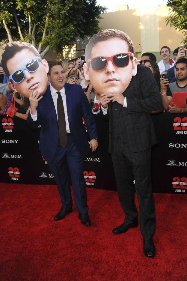 Channing Tatum et Jonah Hill s'amusent à l'avant-première de 22 Jump Street le 10 juin 2014 à Los Angeles. ©Abaca Press