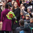 """La duchesse de Cambridge, enceinte à la sortie du """"Northside Center for Child Development"""", un centre dédié aux enfants, à New York, le 8 décembre 2014."""