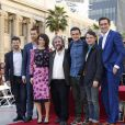 Andy Serkis, Richard Armitage, Evangeline Lilly, Peter Jackson, Orlando Bloom, Elijah Wood, Lee Pace - Peter Jackson reçoit son étoile sur le Walk of Fame à Hollywood, le 8 décembre 2014.