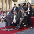 Peter Jackson reçoit son étoile sur le Walk of Fame à Hollywood, le 8 décembre 2014.
