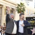 Peter Jackson, Andy Serkis - Peter Jackson reçoit son étoile sur le Walk of Fame à Hollywood, le 8 décembre 2014.