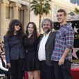 Peter Jackson en famille - Peter Jackson reçoit son étoile sur le Walk of Fame à Hollywood, le 8 décembre 2014.