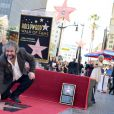 Peter Jackson sur le Hollywood Walk of Fame à Los Angeles, le 8 décembre 2014.