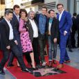 Andy Serkis, Richard Armitage, Evangeline Lilly, Peter Jackson, Orlando Bloom, Elijah Wood & Lee Pace à la remise de l'étoile de Peter Jackson sur le Hollywood Walk of Fame à Los Angeles, le 8 décembre 2014.