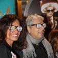 Laurence Roustandjee, Enrico Macias pour les 1 an du salon de coiffure de Sarah Guetta le 8 décembre 2014 à Paris