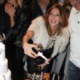 Sarah Guetta pour les 1 an du salon de coiffure de Sarah Guetta le 8 décembre 2014 à Paris