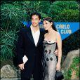 ARCHIVES - MONICA BELLUCCI, LORS DE LA CEREMONIE DES WORLD MUSIC AWARDS A MONACO EN 1997 17/04/1997 -