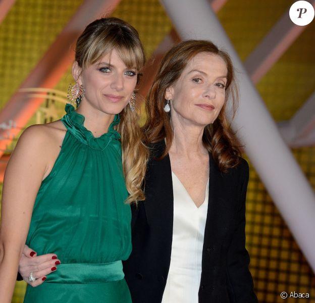Melanie Laurent et Isabelle Huppert - Cérémonie de clôture du 14e Festival International du Film de Marrakech, le 13 décembre 2014.