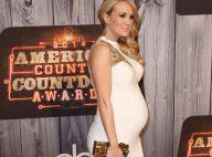 Carrie Underwood : Elle dévoile son baby-bump dans une sublime robe blanche