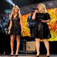 Miranda Lambert and Kelly Clarkson perform on the 2014 American Country Countdown Awards on FOX at the Music City Center on December 15, 2014 in Nashville, Tennessee, USA. Photo by Frank Micelotta/PictureGroup/ABACAPRESS.COM16/12/2014 - Nashville