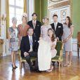 Photo du baptême de la princesse Leonore de Suède, premier enfant de la princesse Madeleine et Chris O'Neill, le 8 juin 2014 à Stockholm