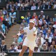 Rafael Nadal en plein match à Wimbledon. Londres, le 1 juillet 2014.