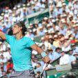 Rafael Nadal lors du tournoi de Roland Garros à Paris le 6 juin 2014.