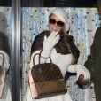 Mariah Carey fait du shopping chez Louis Vuitton à Aspen, le 27 décembre 2014.