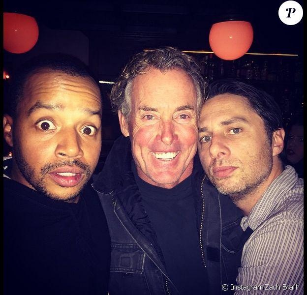 Zach Braff, Donald Faison et John C. McGinley - photo publiée sur le compte Instagram du premier le 28 décembre 2014