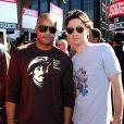 Donald Faison et Zach Braff devant les Universal City Studios de Los Angeles, le 13 novembre 2007