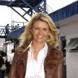 Corinna Schumacher dans le paddock du Grand Prix du Brésil à Interlagos le 20 octobre 2006