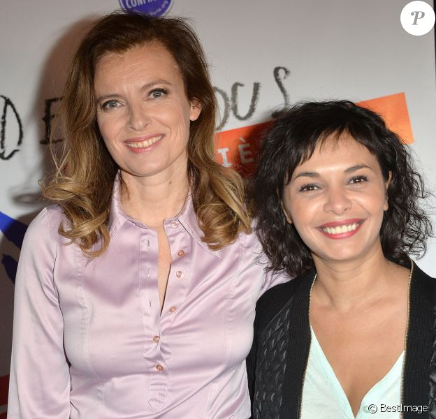 Valérie Trierweiler et Saïda Jawad à Paris, le 28 mars 2014.