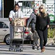 Ali Larter enceinte fait ses courses chez Whole Foods à West Hollywood, le 5 janvier 2015