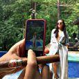 """""""Ludacris prend en photo ''la femme de ses rêves'', Eudoxie, en lune de miel au Costa Rica après leur mariage le 24 décembre 2014"""""""