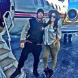 """""""Ludacris et Eudoxie, photo publiée le 26 décembre 2014 sur Instagram, deux jours après leurs fiançailles... et leur mariage !"""""""