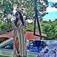 """""""Eudoxie en lune de miel avec Ludacris au Costa Rica: photo publiée le 6 janvier 2015, après leur retour dans le froid d'Atlanta, en Georgie"""""""