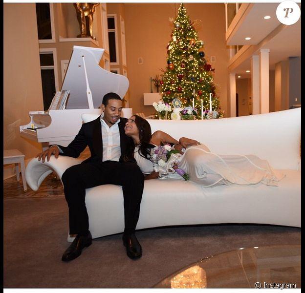 Eudoxie, sublime le jour de son mariage at home avec Ludacris, le 24 décembre 2014