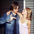 Liam Gallagher et son ex-épouse, Patsy Kensit, à Londres, le 22 mai 1998.