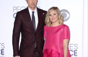 Kristen Bell maman en rose bonbon : 1re sortie depuis bébé avec son chéri
