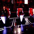 Les coachs, Jenifer, Mika, Zazie et Florent Pagny reprennent Rue de la Paix de Zazie, dans The Voice 4, sur TF1, le samedi 10 janvier 2015